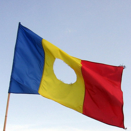 -romanian flag-with hole
